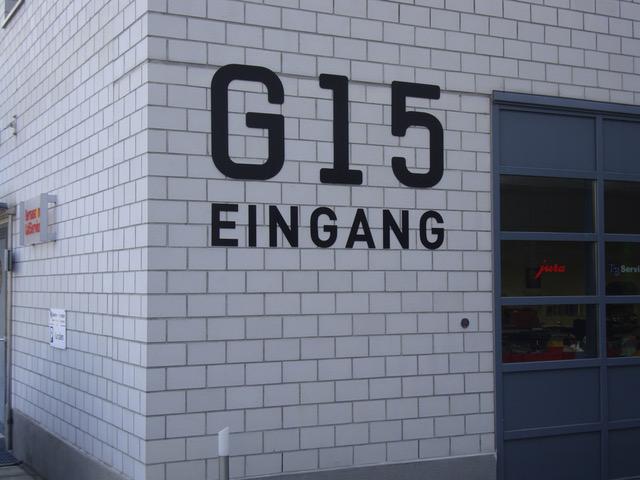 G15 Decoupierschrift
